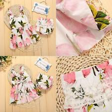 Newborn Kids Girls Outfits Floral Party Dress SKirts + PP Panys Clothing Sets