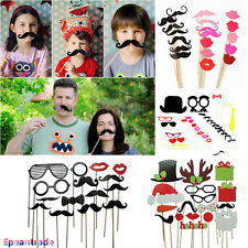 DIY Photo Booth Props Hat Mustache lip glasses On A Stick Wedding Birthday Party