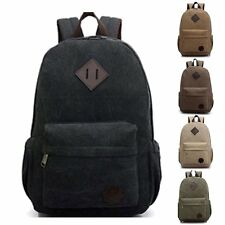 New Men's Canvas Laptop Backpack Shoulder Rucksack Schoolbag Travel Hiking Bag