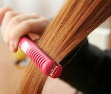 Hot Iron Straightening Hair Straightener Ceramic Electronic Mini Pink comb Curls