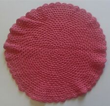 Hand Crochet Cotton Soft Lace Doyley 12 inch - QUICK FREE DELIVERY