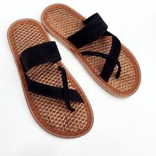 Women Girls Natural Palm Sewing Summer Beach Slippers Sandals Flip Flops Shoes