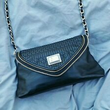 CHARLES & KEITH Black & Gold Shoulder Hip Quilted Fashion Bag for Women Ladies