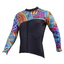 Men Long Sleeve Cycling Jersey Bicycle Bike Sportwear Rider Clothing C525a
