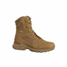 Magnum Mens Desert Tan Leather Response III 8.0 Tactical Boots Suede