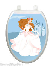 Fairy Princess Toilet Tattoo Elegant Decor Restroom Cover Designer Seat TT-1109
