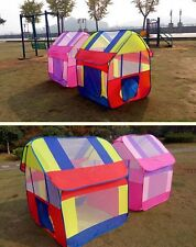 New Foldable Kids Playhut Outdoor Indoor Fun Play Tent House Pop Hut