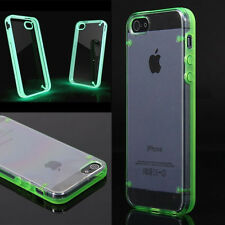 Pop Clear Glow In The Dark Luminous Fluorescence Case Cover For iPhone5 5S 1 Pcs