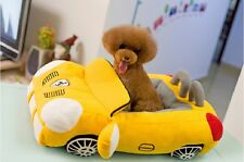 Dog Kennel Nest Cool Car Shape Pet Bed Soft Pet  Cat Beds 70CM Yellow & Red