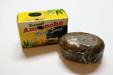 RAW BLACK SOAP-African Black Soap-Handmade Ghana Soap -150g-Amonche Natural Soap