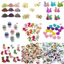 Mixed Wooden Round Heart Animal Buttons Embellishment Sewing Craft Scrapbook DIY