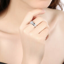 Size 6-7 Cubic Zirconia Hearts and Arrows Wedding Band Women's Engagement Ring