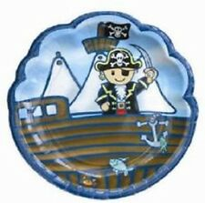 """""""LITTLE PIRATE""""   Pack of 8 Party Plates -  Lovely Chubblies Range"""