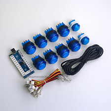 5V Arcade MAME DIY Bundle Kit Parts 10 X Push Buttons + LED USB Encoders Board