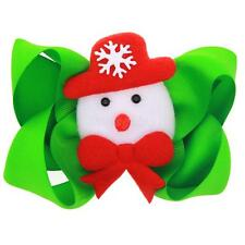 Christmas Girls Hair Pin Set Lovely Snowman with Bow-knot Hair Snap Clips