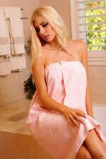 Lovely Day Lingerie Pink Polyester Ladies Towel Wrap Around Choose the size