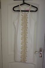 Lilly Pulitzer PEARL LACE DETAIL SHIFT DRESS Resort White Sz 14