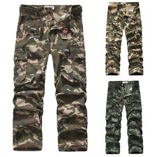 NEW MENS CAUSAL CAMO MILITARY PANTS ARMY CARGO COMBAT WORK TROUSERS 30 32 34 36+