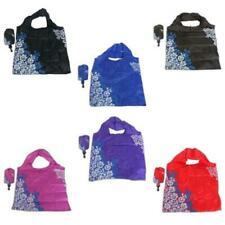 Fold Up Shopping Bag with Pouch - Eco Folding Reusable Shopper Foldaway Tote