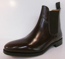 Men Loake Dark Brown Leather Pull-On Boot 290T F Fit