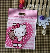 Set of 12 Empty hello kitty / happy Kids Birthday Party Bags