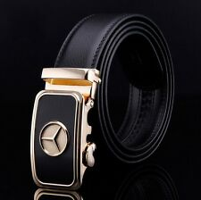 Luxury Mens Genuine Leather Belt Strap Benz Automatic Buckle For Business/Casual
