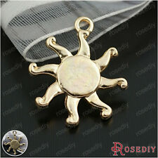50PCS 17MM Zinc Alloy Sun Charms Pendatns Jewelry Findings Accessories 22153