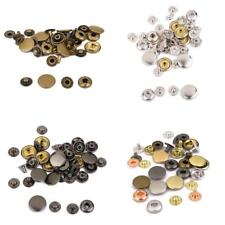 8/10sets Leather craft Rapid Rivet Button Metal Fasteners Press Studs Buttons