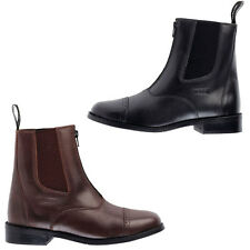 TOGGI AUGUSTA JODHPUR BOOTS BLACK OR BROWN - PU LEATHER -ZIP - PONY HORSE RIDING