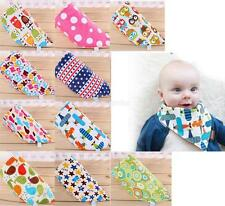 1pcs Infant Baby Kids Bibs Newborn Lunch Bibs 3 Layer Cotton Triangle Head Scarf