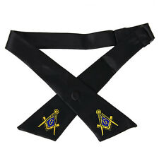 MASONIC CROSSOVER TIE - ADJUSTABLE - CHOOSE FROM 7 COLORS - NEW