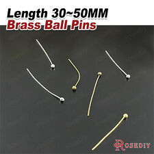 30MM 40MM 50MM Brass Connect Beads Ball Pins Jewelry Findings Accessories 15512