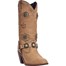 Dingo Womens Chestnut Addie Pigskin Leather Cowboy Boots