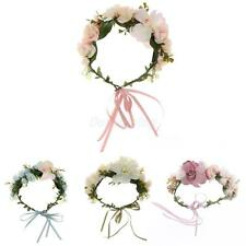 Phenovo Lily Flower Garland Wedding Bridal Forehead Hair Band Accessories