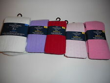 Girls Sweater Tights Cotton Faded Glory Various Colors and Sizes NEW