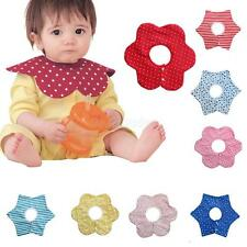 Infant Baby Bibs Kids Cotton Bandana Feeding Saliva Towel Dribble Flower Shape