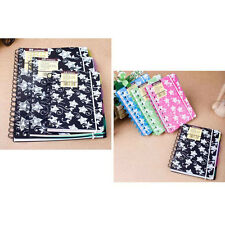 A6/A5 Spiral Coil Plastic Cover Notebook Diary Travel Journal Note Book Memo #AU