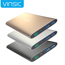 Vinsic 12000mAh Mobile Power Bank External Battery Backup Charger for Cell Phone