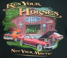 "Ford Mustang T-shirts 69 - 71 ""Run Your Horses"" - 100% Cotton - Black"