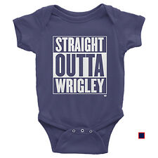 Chicago Cubs Baby - Straight Outta Wrigley - Baseball Funny Vintage