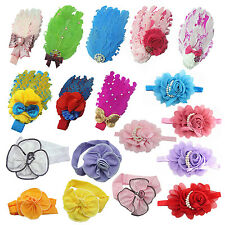 Lovely Cotton Girls Baby Headbands Feather SI