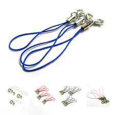 10pcs White Mobile Cell Phone cords Strap Lariat Lanyard Lobster Clasp SI