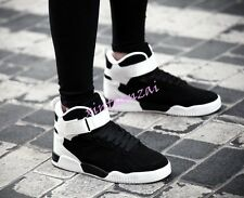 Mens Boy Lace Up High Top Sport Bords Shoes Punk Cool Ankle Boot Floral Sneakers