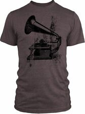 Big Texas Vintage Gramophone (Black) Vintage Tri-Blend T-Shirt