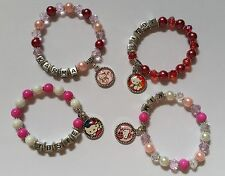 1 x Personalised Name HELLO KITTY Inspired Bead Bracelet Charm