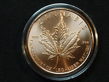 1 oz. 2014 Copper Cannabis Medallion 999 pure