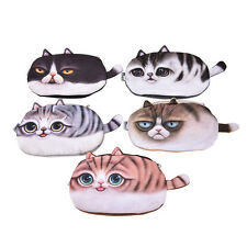 Cute Children Cat Face Tail Coin Purse Kids Wallet Bag Change Pouch Key Holder