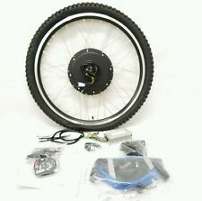 "48V 500W/1000W ELECTRIC BIKE REAR WHEEL CONVERSION KIT 26""/700c Disc LED-Battery"