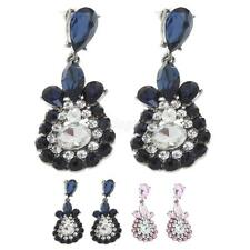 Women Jewelry Alloy Stud Earings Ethnic Style Crystal Rhinestone Dangle Earrings