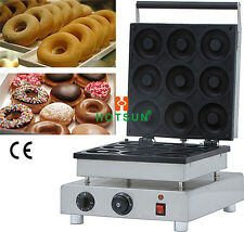 110V 220V Electric Commercial Nonstick 9cm Donut Doughnut Iron Maker Machine
